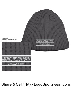 Fatbike Frozen Forty winter hat Design Zoom